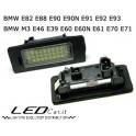 COPPIA PLAFONIERA TARGA LED NO ERRORE BMW M3 E39 E46 E60 E60N E61N